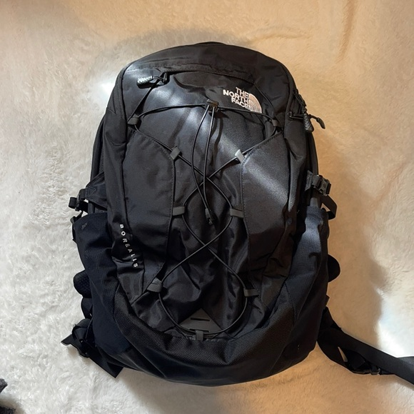 North Face black Borealis back pack